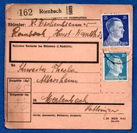 Colis Postal / De Rombach - Alsace-Lorraine