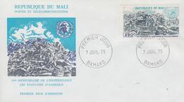 Enveloppe  FDC   1er   Jour    MALI    Bicentenaire  De   L'  Indépendance  Des  U.S.A    1975 - Unabhängigkeit USA