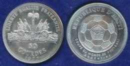 Haiti 50 Gourdes 1977 Fußball-WM Ag 925 21,5g Stg - Haiti