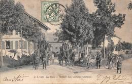 La Cure Les Rousses Canton Morez Départ Des Voitures Postales Diligence Thème Poste Courrier JJ 5205 - France