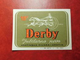 Beer Labels - Derby Jubilarno Pivo 1954 - Beer
