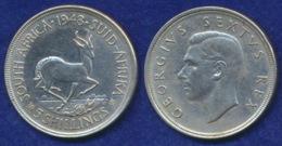 Südafrika 5 Sh. 1948 George VI. Ag800 28,2g - South Africa