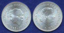 Niederlande 10 Gulden 1970 Jahrestag Ag720 25g - [ 3] 1815-… : Kingdom Of The Netherlands
