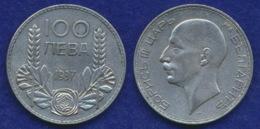 Bulgarien 100 Lewa 1937 Boris III. Ag500 20g - Bulgaria