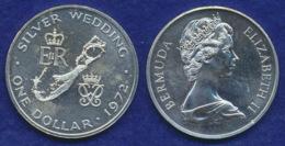 Bermuda 1 Dollar 1972 Hochzeitstag Ag500 28,2g - Bermuda