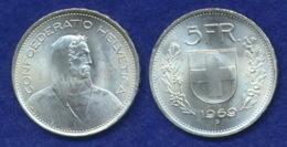 Schweiz 5 Franken 1969 Ag835 13g - Switzerland