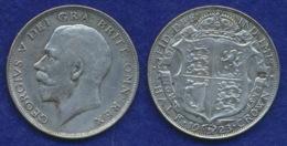 Großbritannien 1/2 Crown Georg V. 1923 Ag500 14,1g - 1902-1971: Postviktorianische Münzen