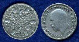 Großbritannien 6 Pence Georg V. 1936 Ag500 2,8g - 1662-1816: Ende 17. Jh. - Anfang 19. Jh.