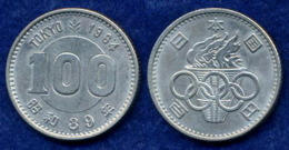 Japan 100 Yen 1964 Olympia Ag 600 4,8g - Japan