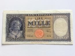 ITALIA 1000 LIRE 20/03/1947 BB++ TESTINA - [ 1] …-1946: Königreich