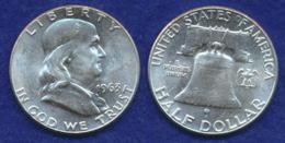 USA 1/2 Dollar 1963 Franklin Ag900 12,5g - 1948-1963: Franklin