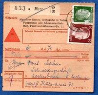 Colis Postal / De  Metz - Alsace-Lorraine