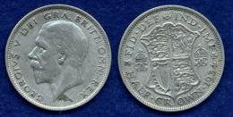 Großbritannien 1/2 Crown 1934 Georg V. Ag500 14,1g - 1902-1971: Postviktorianische Münzen