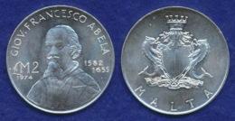 Malta 2 Pounds 1974 Abela Ag916 10g - Malta