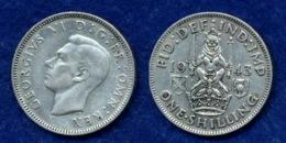 Großbritannien 1 Shilling 1943 Georg VI. Ag500 5,6g - 1902-1971: Postviktorianische Münzen