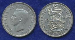 Großbritannien 1 Shilling 1940 Georg VI. Ag500 5,6g - 1902-1971: Postviktorianische Münzen