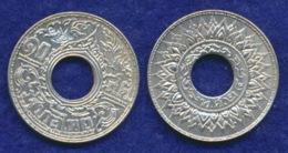 Thailand 10 Satang 1941 Ag 2,5g - Thailand