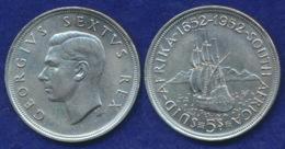 Südafrika 5 Shillings 1952 Dromedaris Ag500 28,2g - South Africa