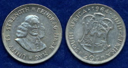 Südafrika 20 Cents 1964 Riebeeck Ag500 11,3g - South Africa