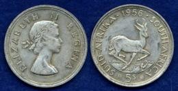 Südafrika 5 Shillings 1956 Elisabeth II. Ag500 28,2g - South Africa