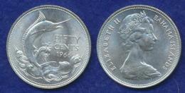 Bahamas 50 Cent 1966 Blauer Martlin Ag800 10,3g - Bahamas