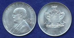 Malta 1 Pfund 1972 Dimech Ag986 10g - Malta