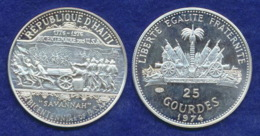 Haiti 25 Gourdes 1974 Truppen Ag925 8,37g - Haiti