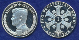BRD Medaille Kennedy 36mm Ag1000 14,8g - Elongated Coins