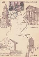 Carte  Maximum  1er Jour   TUNISIE     ROTARY   INTERNATIONAL    TUNIS   1955 - Rotary, Lions Club
