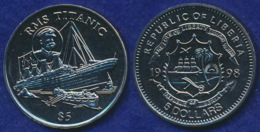 Liberia 5 Dollars 1998 Untergang Titanic - Liberia