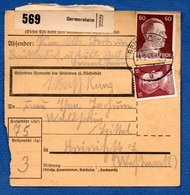 Colis Postal / De  Germersheim / Pour Waldheim - Spittel - Elzas-Lotharingen
