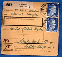 Colis Postal / De  Jettenbach über Kussel - Alsace-Lorraine