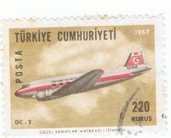 TURKEY»1967»AIR MAIL»MICHEL TR 2049»USED - 1921-... Repubblica
