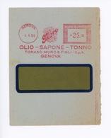 AFFRANCATURA MECCANICA- DITTA TOMMASO MORO -GENOVA 04/04/1956 (15/01) - Marcophilie - EMA (Empreintes Machines)