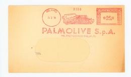 AFFRANCATURA MECCANICA – PALMOLIVE- 24/02/1954 (15/03) - Affrancature Meccaniche Rosse (EMA)