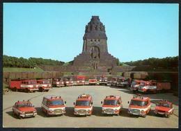 C5868 - TOP Feuerwehr Leipzig 125 Jahre Jubiläum - Barkas Elo Wartburg Robur - Ansichtskarten