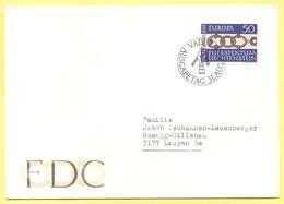 LIECHTENSTEIN - 1965 - Europa Cept - FDC - Viaggiata Da Vaduz Per Laupen, Belgio - Europa-CEPT