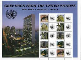 2006 UNO NEW YORK Yv.-T. 1004-8 MI. 1010-14 **MNH    Grußmarken: Skulpturen Vor UNO-Gebäuden - New York - Sede Centrale Delle NU