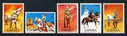 ESPAGNE 1973 N° 1793/1797 ** Neufs MNH Superbes C 3 € Chevaux Horses Animaux Infanterie Cavaliers Uniformes - 1971-80 Nuovi