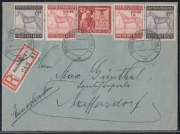 DR R-Brief Mif Minr.2x 857,2x858,863 Reichenberg 8.4.44 - Briefe U. Dokumente