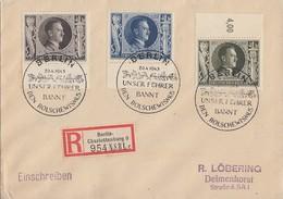 DR R-Brief Mif Minr.844,846,849 SST Berlin 20.4.43 - Briefe U. Dokumente