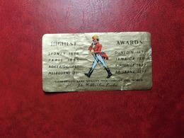 Highest Awards  - Vintage Old Whisky Label Etiquette Etichetta - Whisky