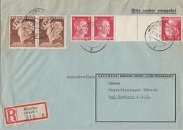 DR R-Brief Mif Minr.2x 768, Zdr. Minr.KZ41 Münster 7.11.41 - Briefe U. Dokumente