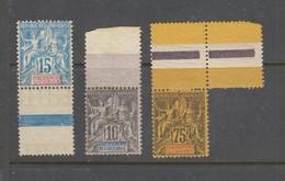 Yvert Numéros 5 - 6- 12 Neufs - Oceania (1892-1958)