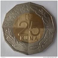 CROATIA HRVATSKA 25 KUNA 2016 .g. - BIMETAL COIN - UNC - New Issued - Croatia