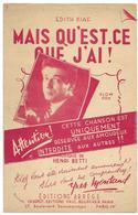 Mais Qu'est-ce Que J'ai !  - Yves Montand (p : Edith Piaf ;  M :Henri Betti) - Music & Instruments
