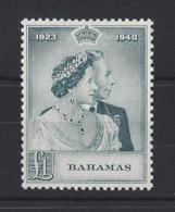 BAHAMAS....KING GEORGE V1....£1....OMNIBUS...ROYAL SILVER WEDDING..SG195....(CAT VAL. £45..)...MH... - Bahamas (1973-...)