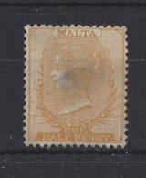 MALTA..QUEEN VICTORIA.(1839-01)..CROWN CC WATERMARK..HAS A THIN SPOT. - Malta