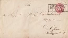 Preussen GS-Umschlag 1 Silbgr. R3 Wittenberg Prov. Sachsen 2.7. Gel. Nach Dessau - Preussen
