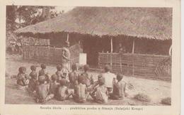 CONGO BELGISCH  ~~  DORPSSCHOOL  ~~  KROATISCHE MISION  IN CONGO BELGE - Kongo - Kinshasa (ex Zaire)